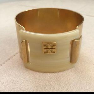 Tory Burch Stunning Cuff Gold and Cream